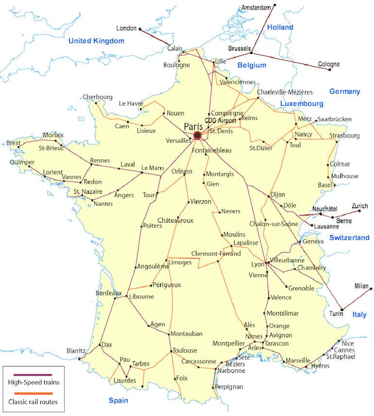Map Of France Rail System.What A Real Train System Looks Like New World Economics